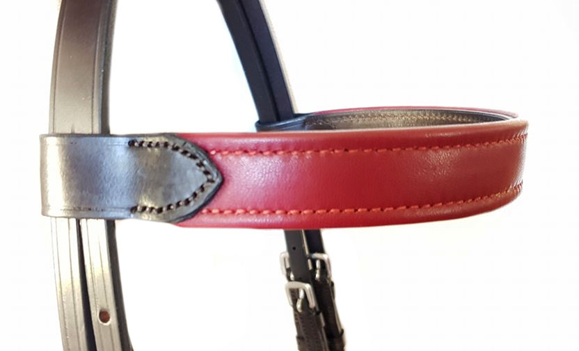 Leather covered browband